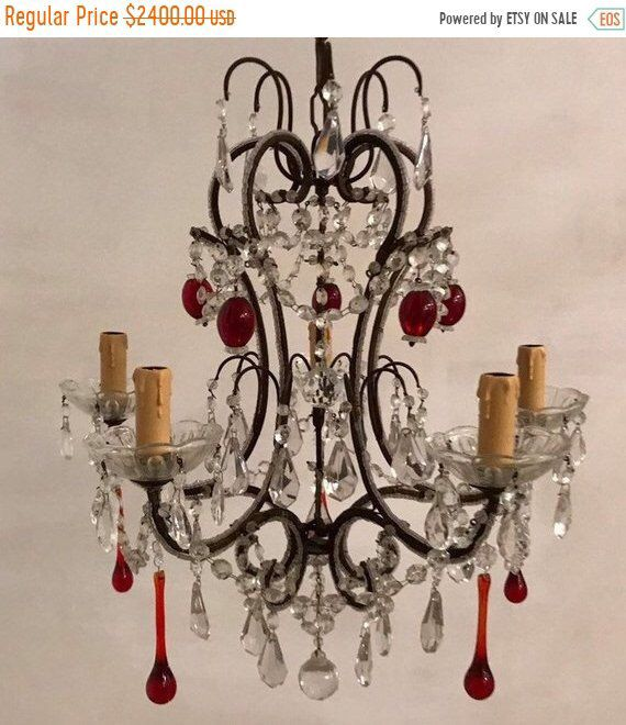 Enjoyable Beautiful Vintage Murano Crystal Chandelier Crystal Beaded Wiring Database Aboleterrageneticorg