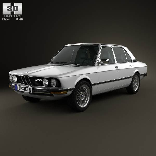 BMW 5 Series Sedan (E12) 1978 3d Model From Humster3d.com. Price: $75