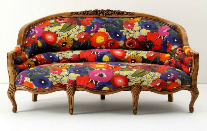 Patterned sofa