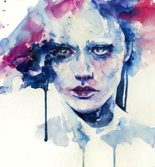 nice #watercolor #portrait     el poder de la mancha es fantastico