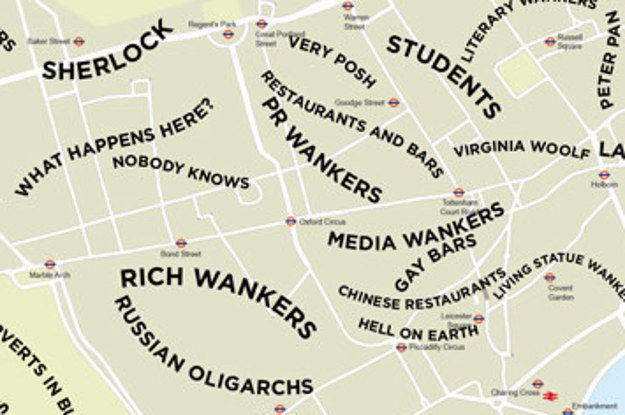 Map Of Areas Of London.The Definitive Stereotype Map Of Central London Private Jet To