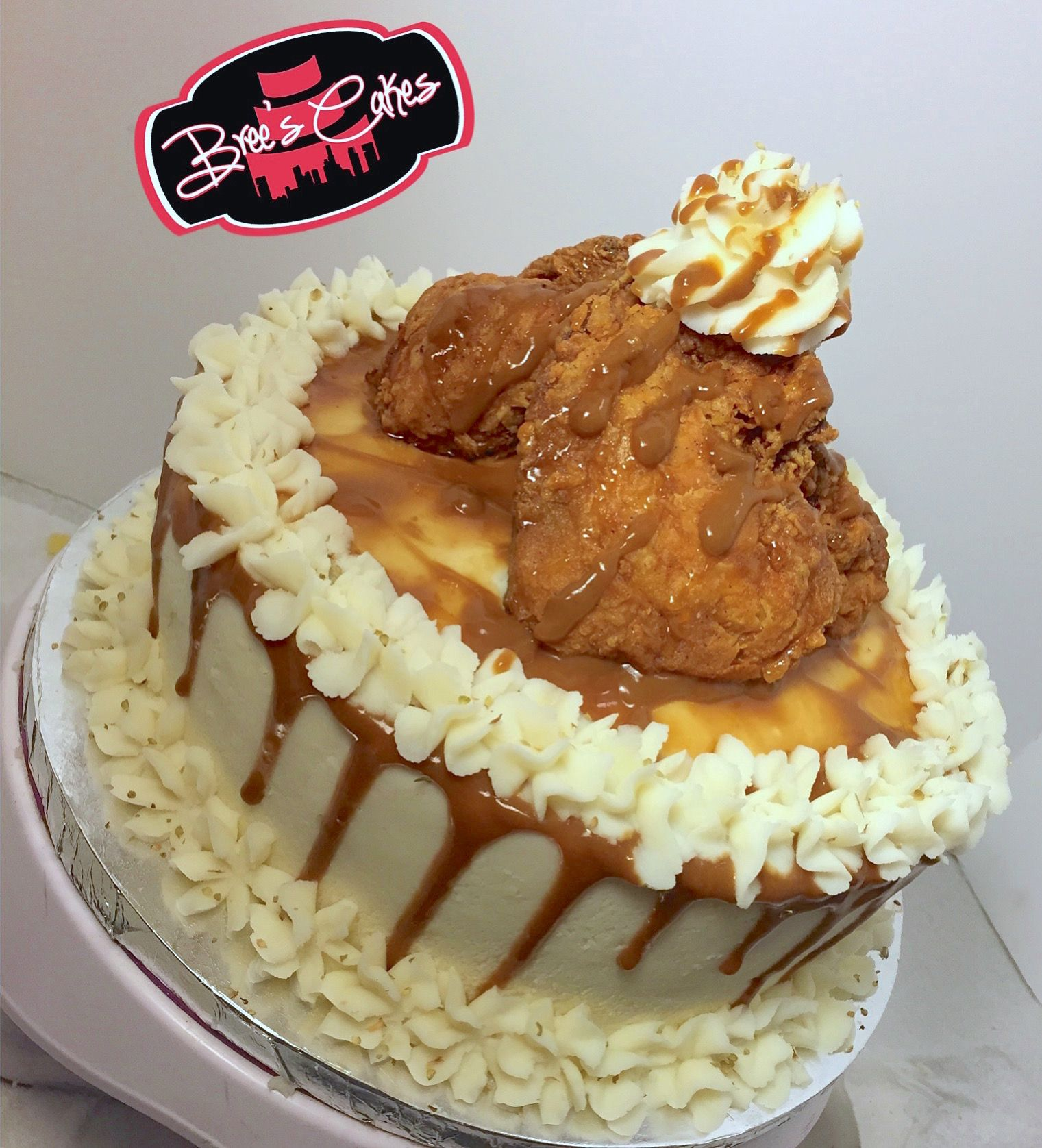 Cake for dinner is OK when its made with fried chicken mashed