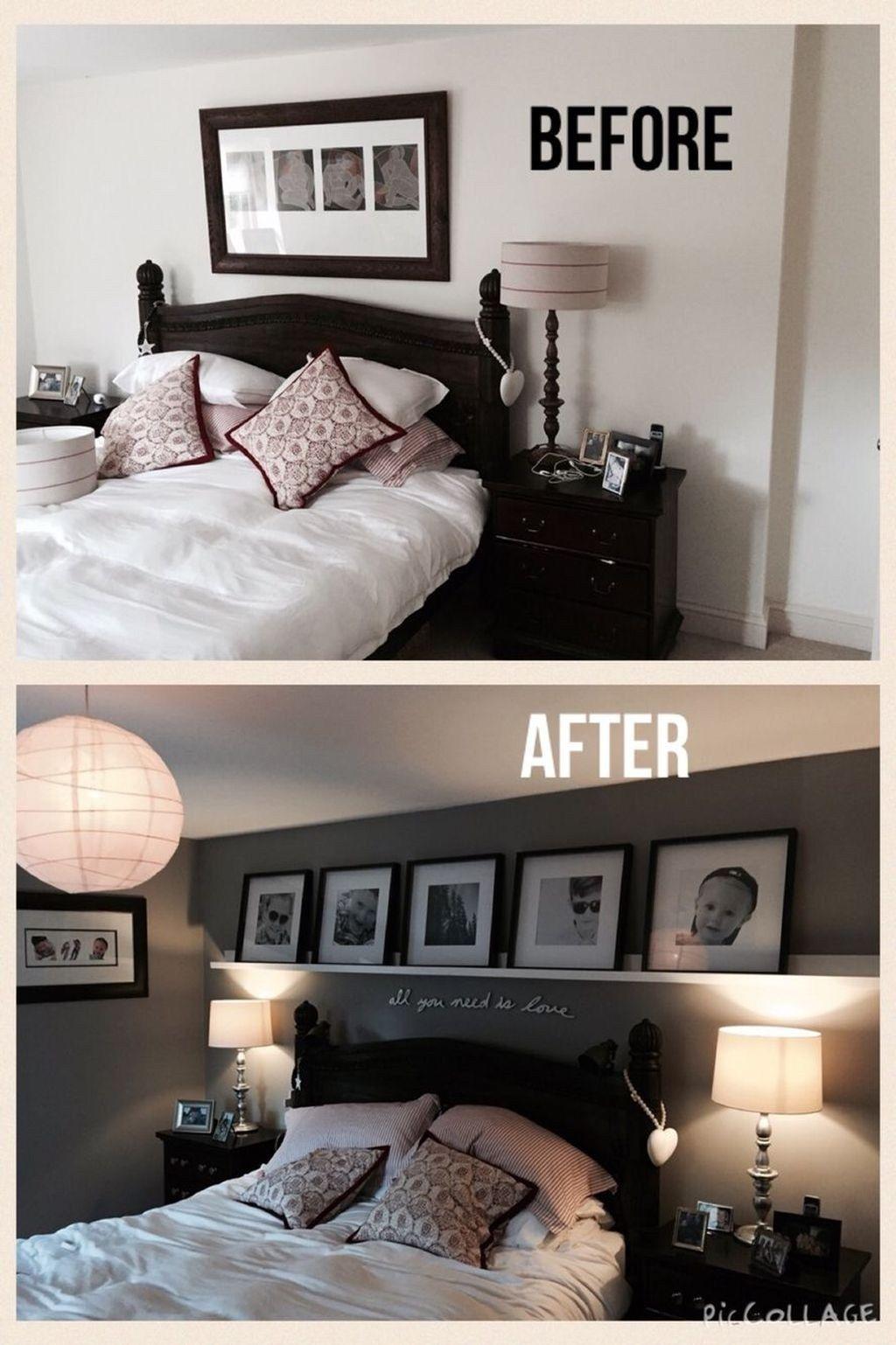 Photo of 48 beliebte Makeover-Ideen für kleine Hauptschlafzimmer – OMGHOMEDECOR #bedroomdecor Noth …
