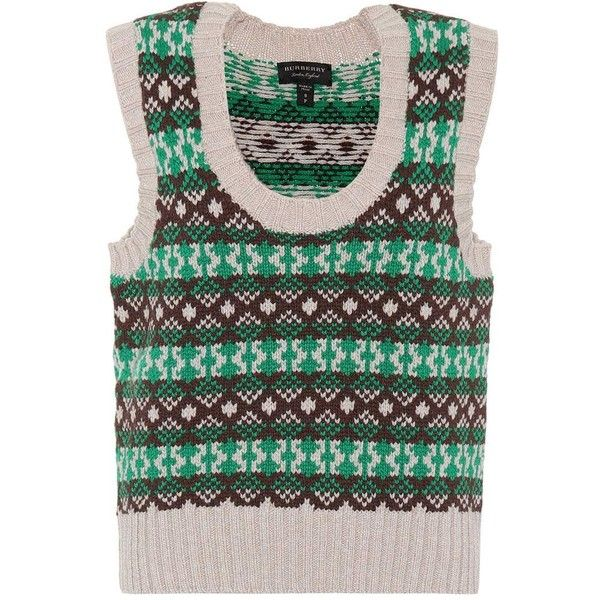Burberry Fair Isle Cashmere and Wool Sweater Vest (€950) ❤ liked ...