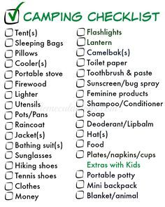 The Essential Things To Pack For Camping Here Is A Free Printable Checklist Download Too Make Sure You Dont Forget Anything