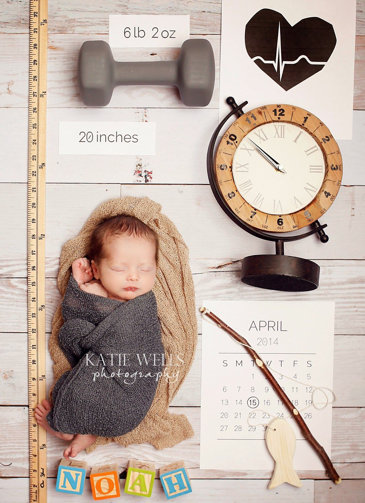 Cute Birth Announcement idea Katie Wells Photography Idaho Falls – Colorado Springs Birth Announcements