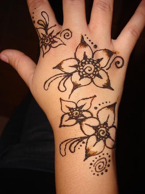 Henna Tattoo Easy Flower: Flower Henna, Henna Flower