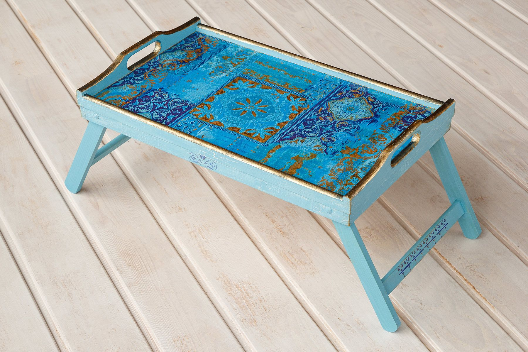 Breakfast Table Tray Folding Breakfast Table With Legs Blue Bedding Bed Tray Wooden Serving Trays
