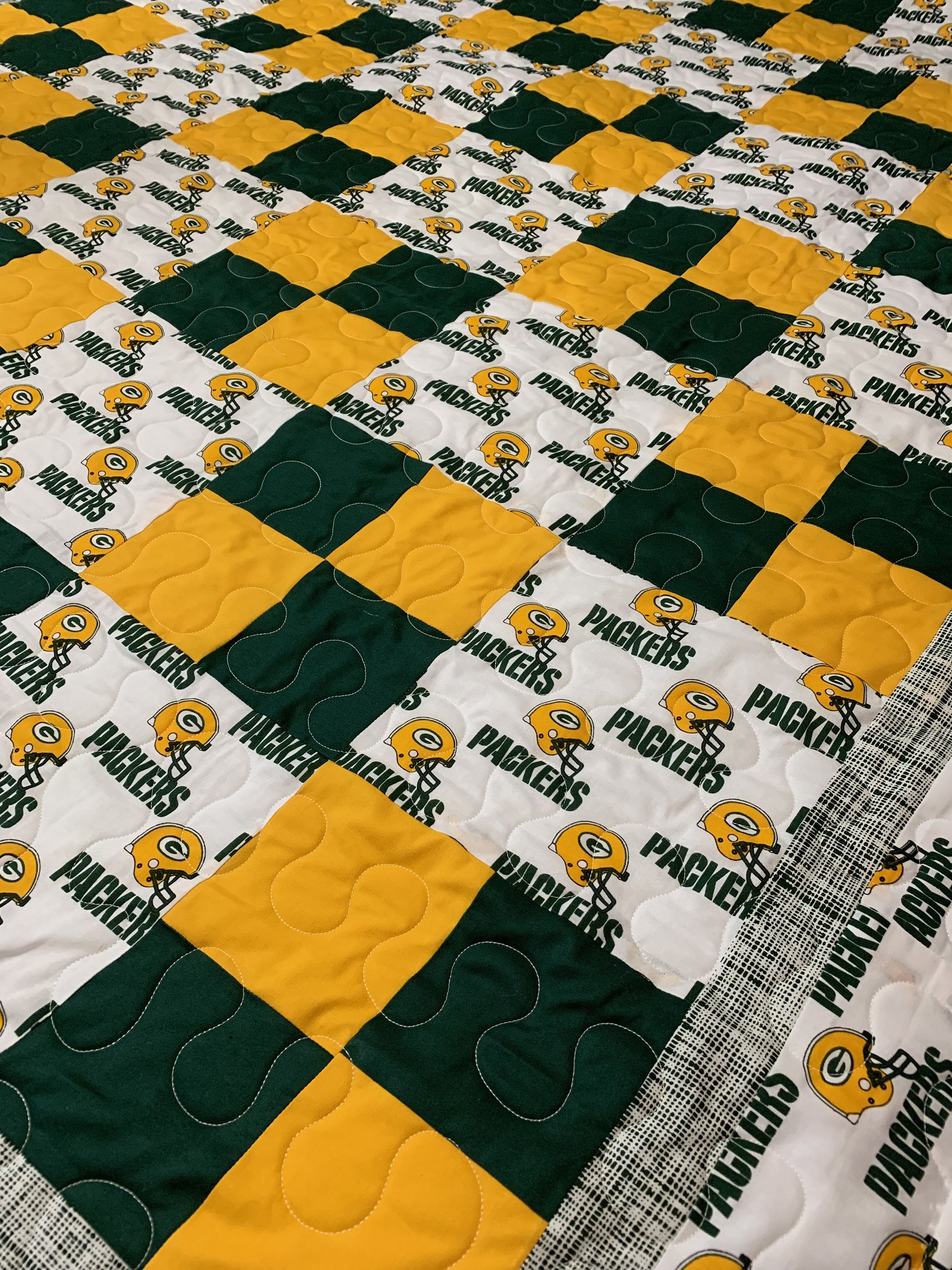 Green Bay Packers Handmade Quilt Sports Quilts Cute Quilts Green Bay Packers Crafts