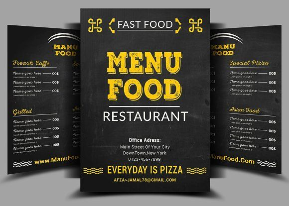 Food Menu  Flyer By Afzaalgraphics On Creativemarket  Awesome