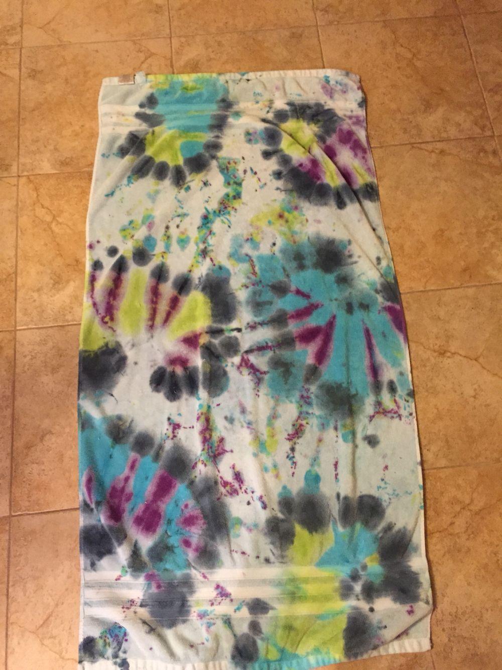 Tye dye towel I made