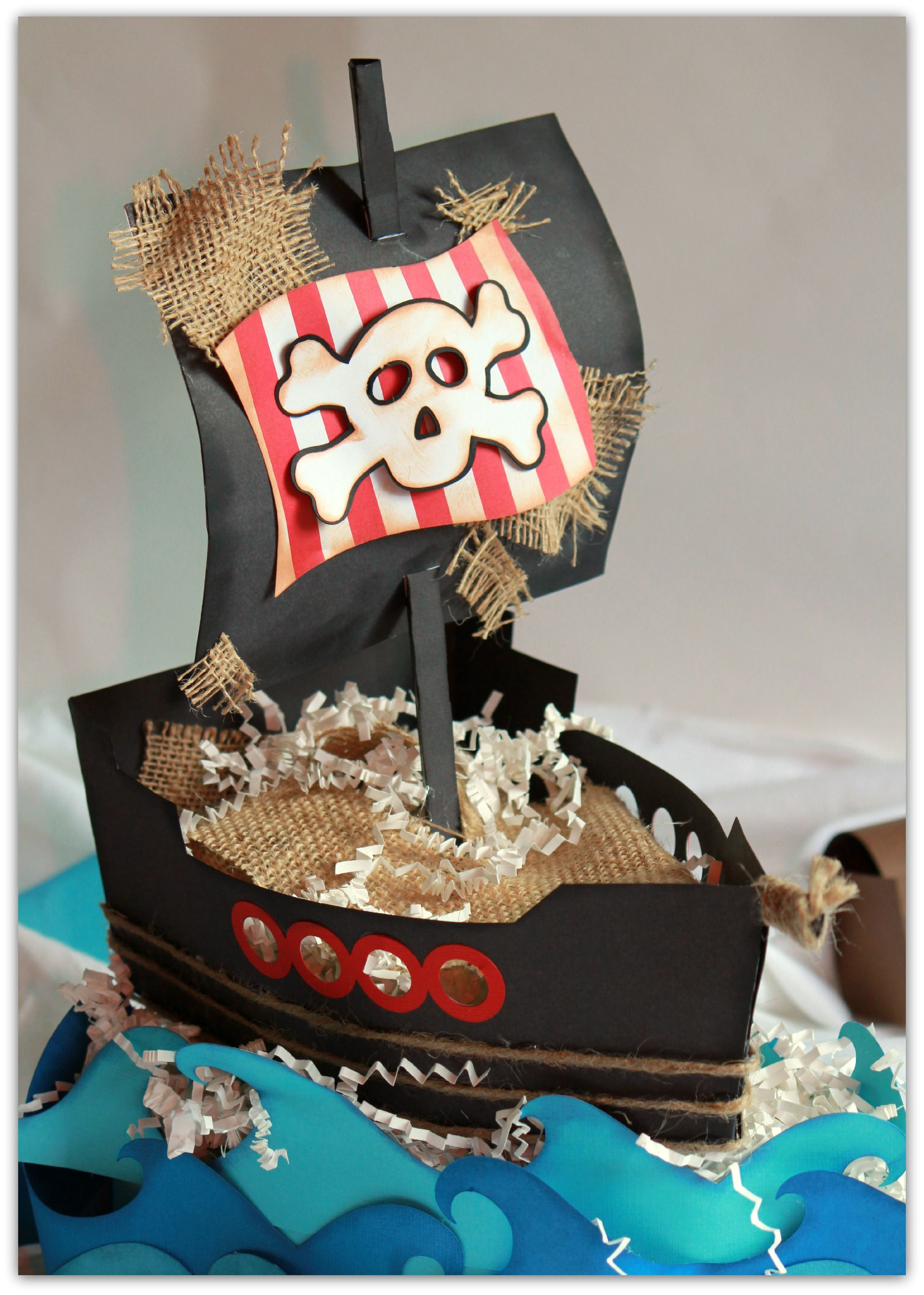 DIY Pirate Ship Party Decorations Tutorial made With My