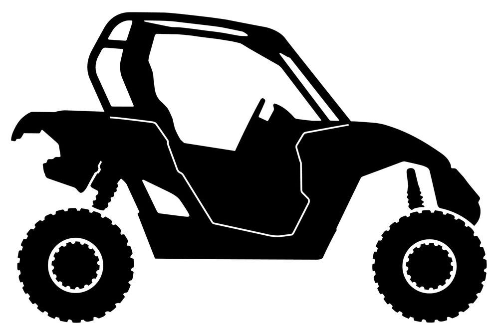 Can Am Can Am Maverick Silhouette Vinyl Decal 6 Inches Tall Black