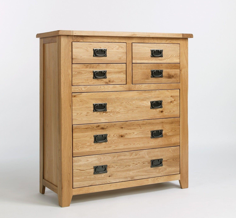 Westbury Oak 4 Over 3 Drawer Chest Oak bedroom furniture