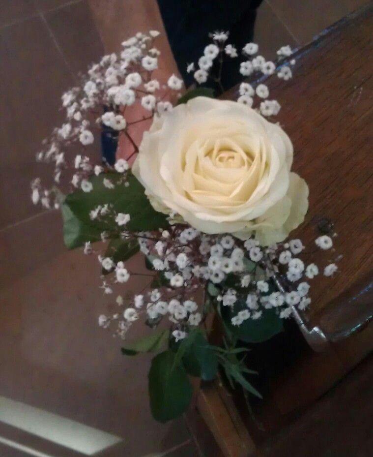 Einfach Deko Taupe ~ Blumenschmuck für die bänke in der kirche es fehlt nur