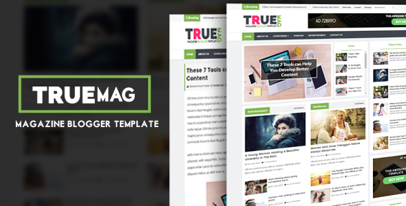 True Mag Professional Newspapermagazine Blogger Template Ms