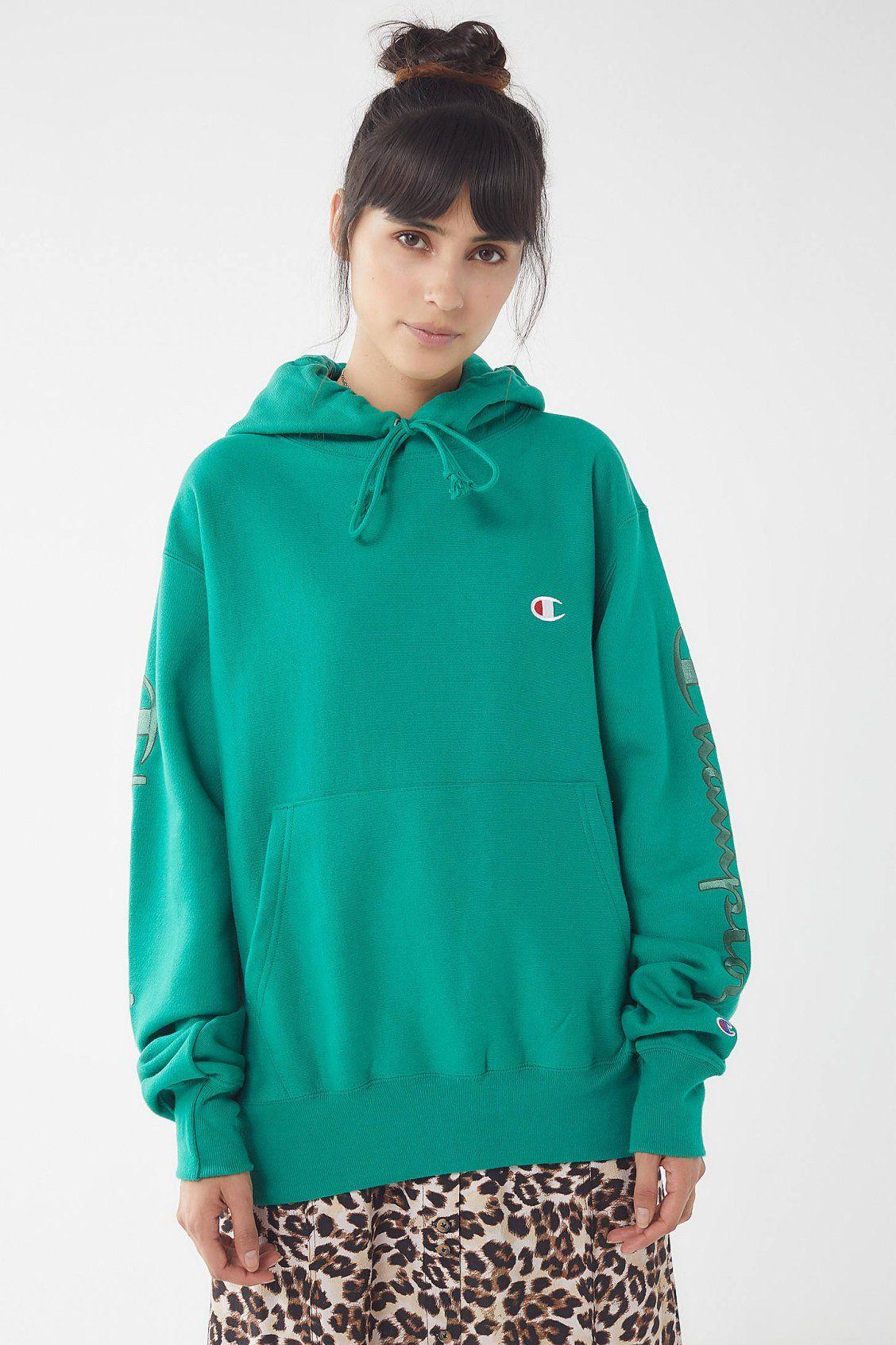 Champion Uo Reverse Weave Hoodie Sweatshirt Zhenskaya Moda Moda [ 1692 x 1128 Pixel ]