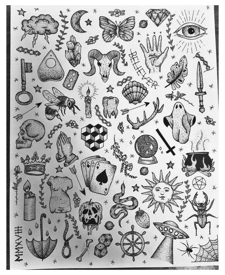 mini tattoos old school