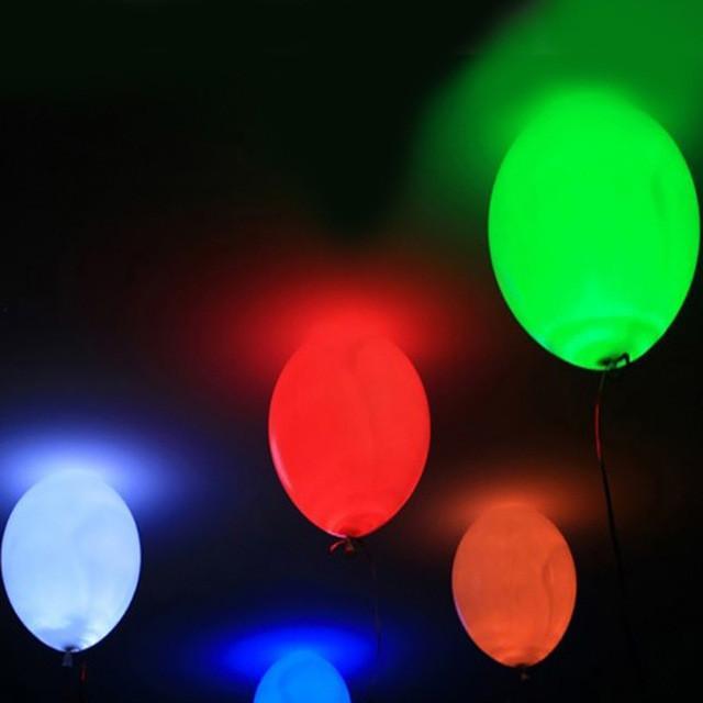 15pcs 12\u0027\u0027 LED Balloon Light Ball Latex Multicolor Helium Balloons