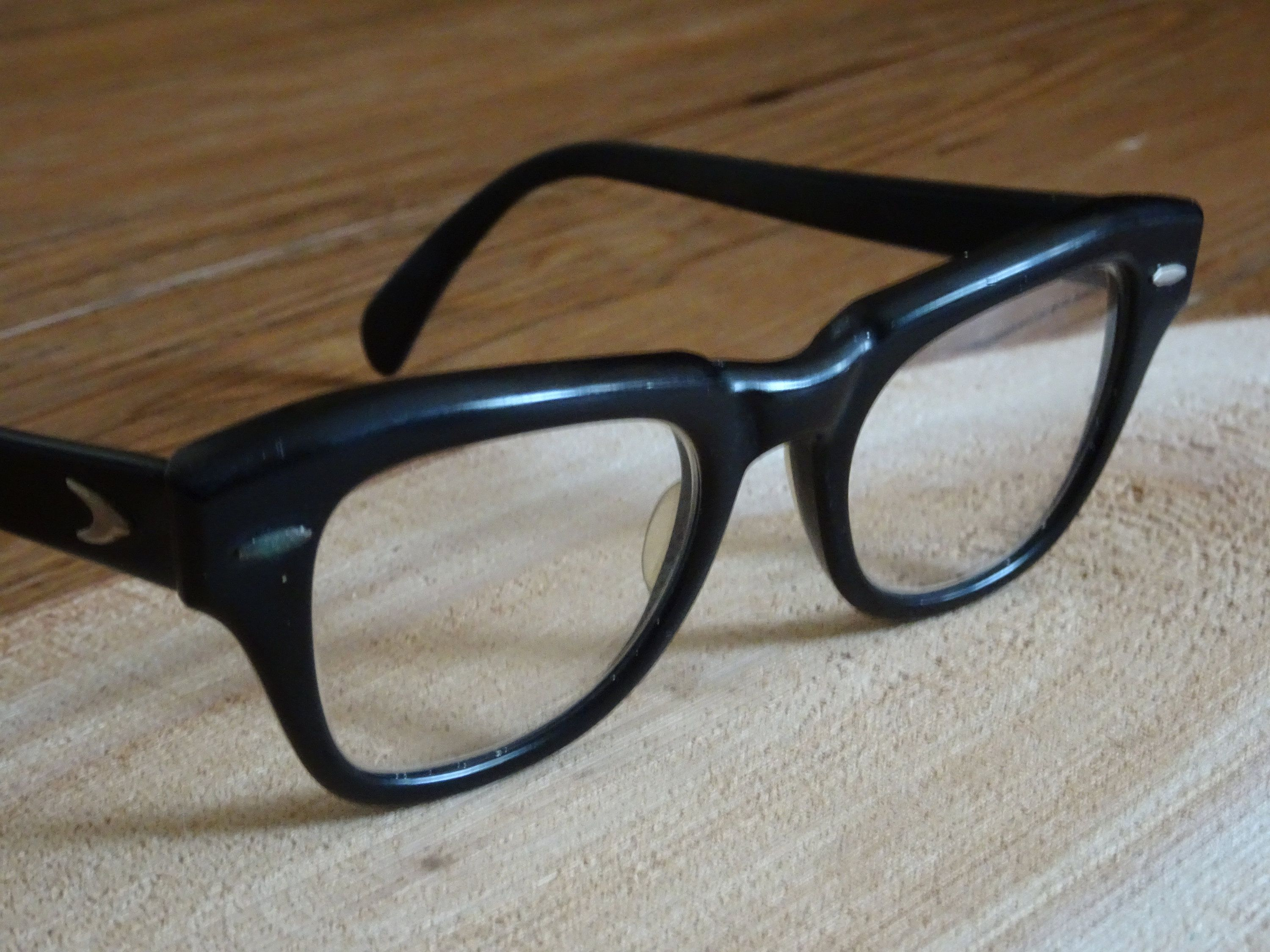 2337e75f30 Vintage Bausch and Lomb Safety Glasses Thick Frame B L 4620 ...