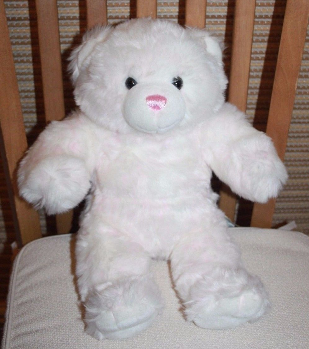 d8325cdda1f Build-A-Bear Workshop Lovely Plush White Bab Bear With Pink Flecks and Nose