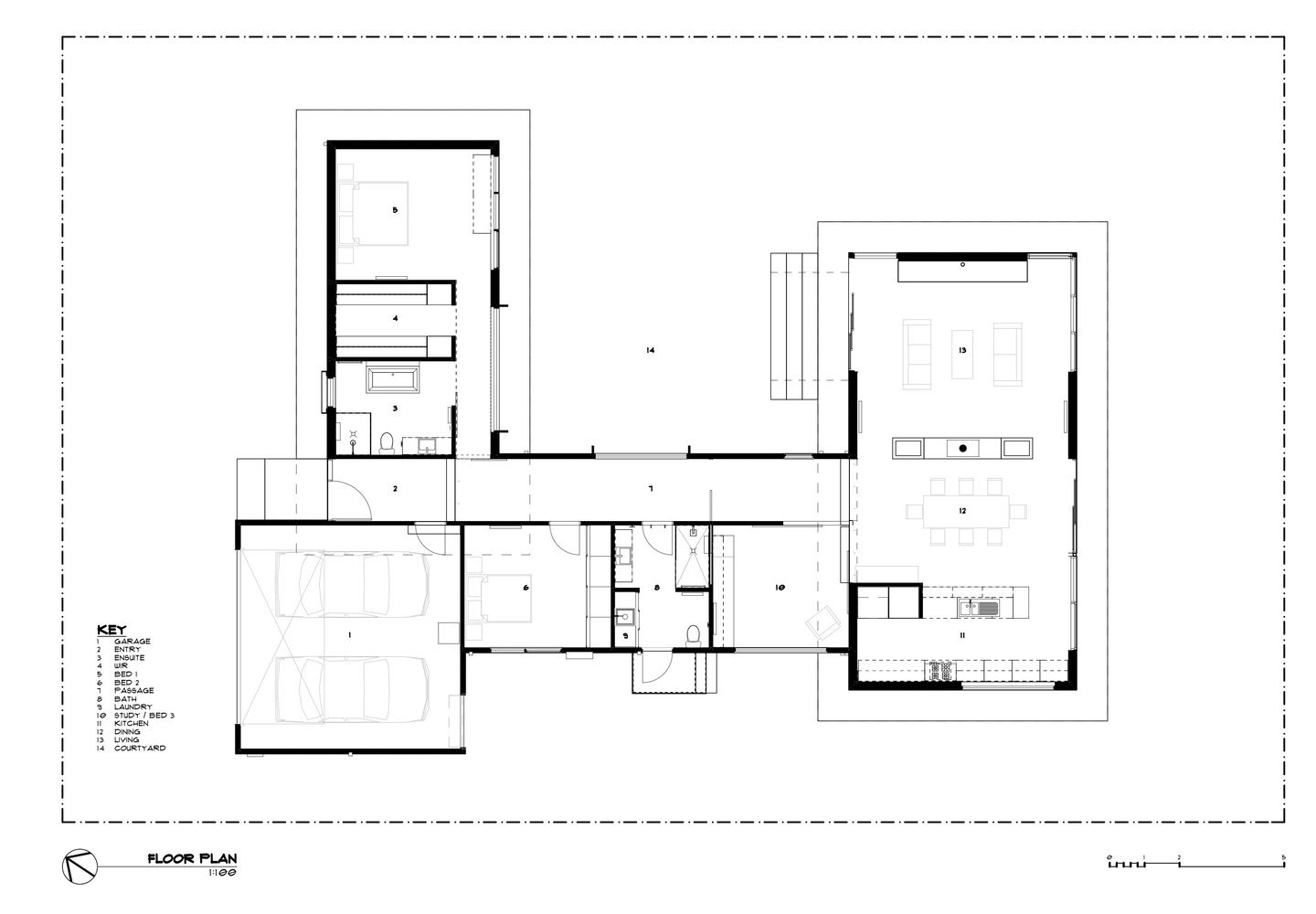 Gallery Of Golf Course House Bespoke Architects 38 Architectural Floor Plans Cool House Designs Mid Century Modern House Plans