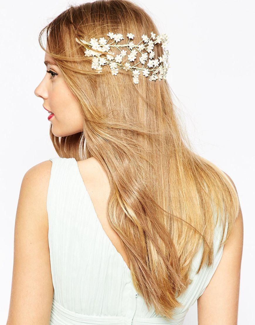 image 1 of asos wedding mini flower back hair garland | hair