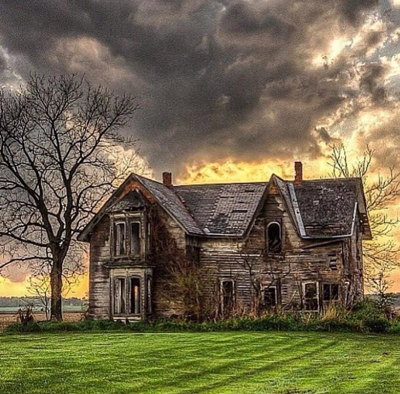 A Storm Approaches An Old Abandoned Farm Home With A