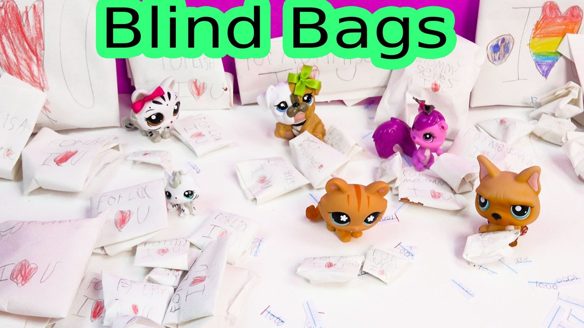 lps mystery surprise handmade blind bags toys cookieswirlc fan mail lot littlest pet shop. Black Bedroom Furniture Sets. Home Design Ideas