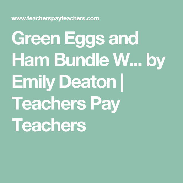 Green Eggs and Ham Bundle Wit and Wisdom