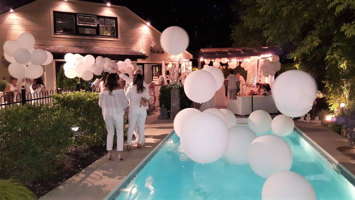 All White Backyard Birthday Party, Toronto ON | Planning