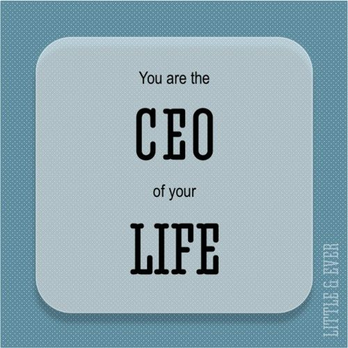 you are the CEO of your life #stretchyourself