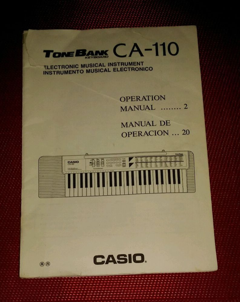 Casio Tone Bank Keyboard Ca Operation Manual English  Spanish