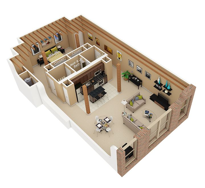1 Bedroom Loft Apartment: 1 Bed / 1.5 Bath Apartment In Chicago IL