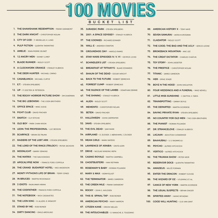 100 Movies Scratch Bucket List Poster