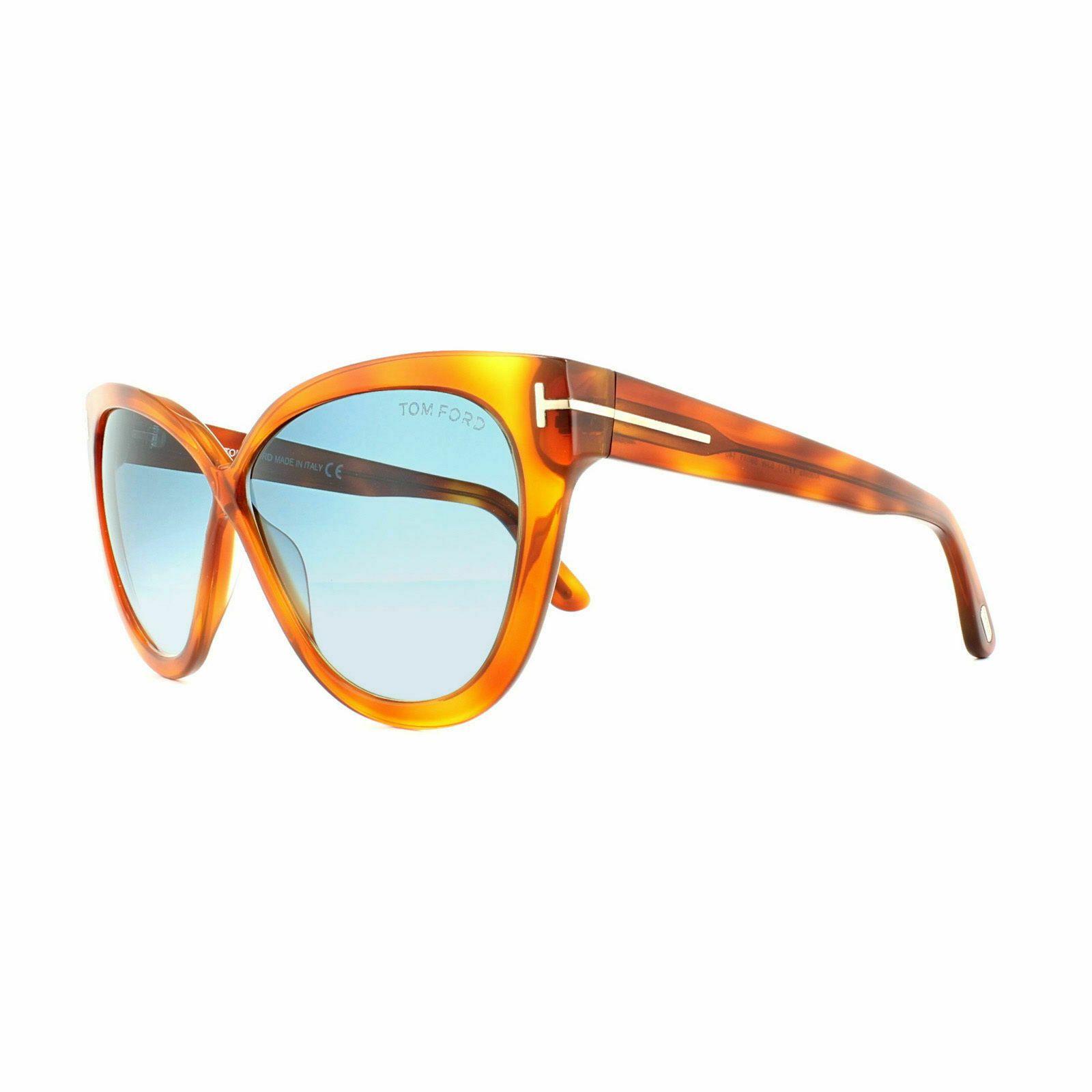 Tom Ford Mujer Cat Eye Gafas de Sol TF0511 53W Havana Marco Azul Degradado Lente ,  Tom Ford Mujer