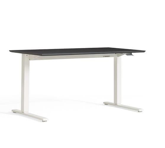 Humanscale Float Standing Desk White Base In 2020 Sit Stand Desk White Desks Standing Desk