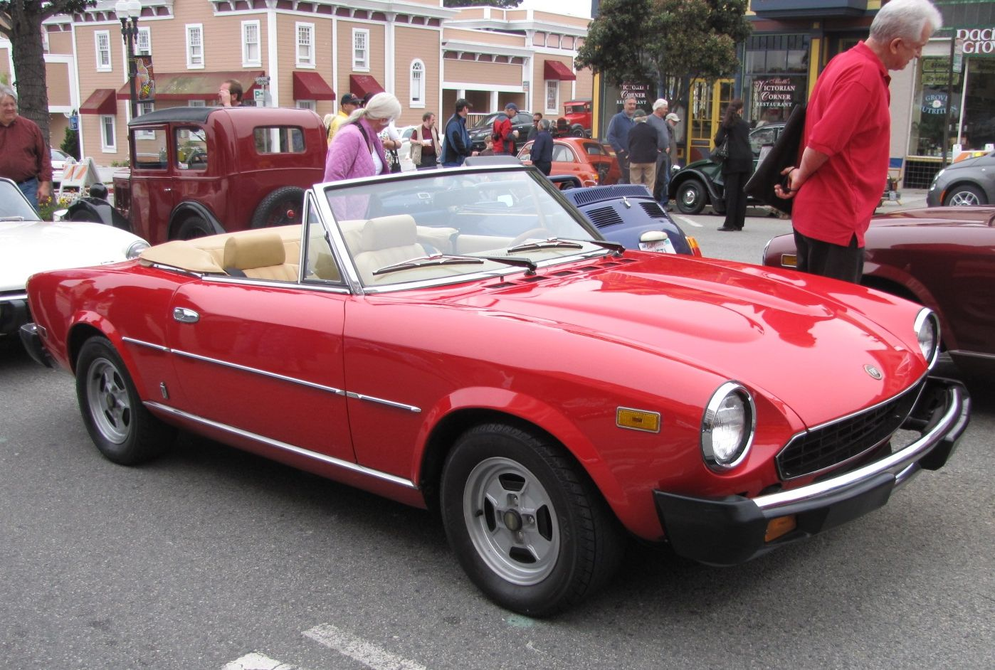 Red Fiat 124 Sport Spider Pinterest And 1970