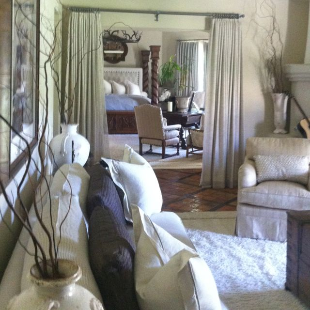 A Serene Palette of Texture for this Master Suite, Cowtan and Tout, KWID, Donghia, Kravet, Osborn and Little