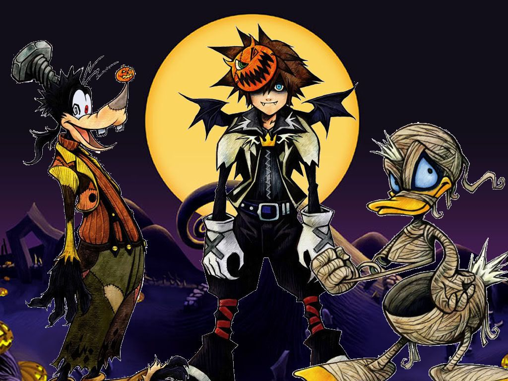 Nightmare Before Christmas Sora.Kingdom Hearts Halloween Town Sora Donald Goofie Nightmare
