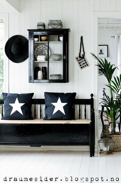 Eingangsbereich BlackWhite and others Pinterest Flure und Sterne - wohnen schwarz wei