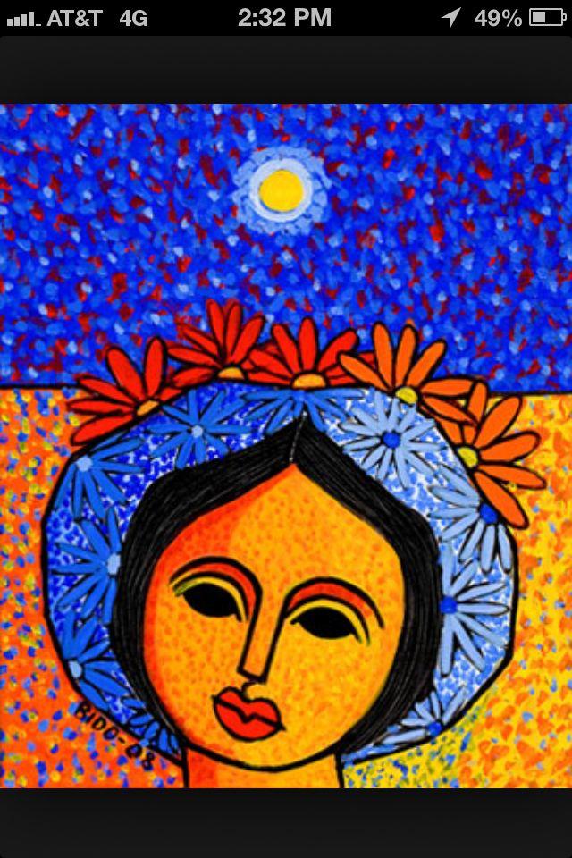 Pin By Agueda Pou On Mi Pais Painting Colorful Paintings Aboriginal Art