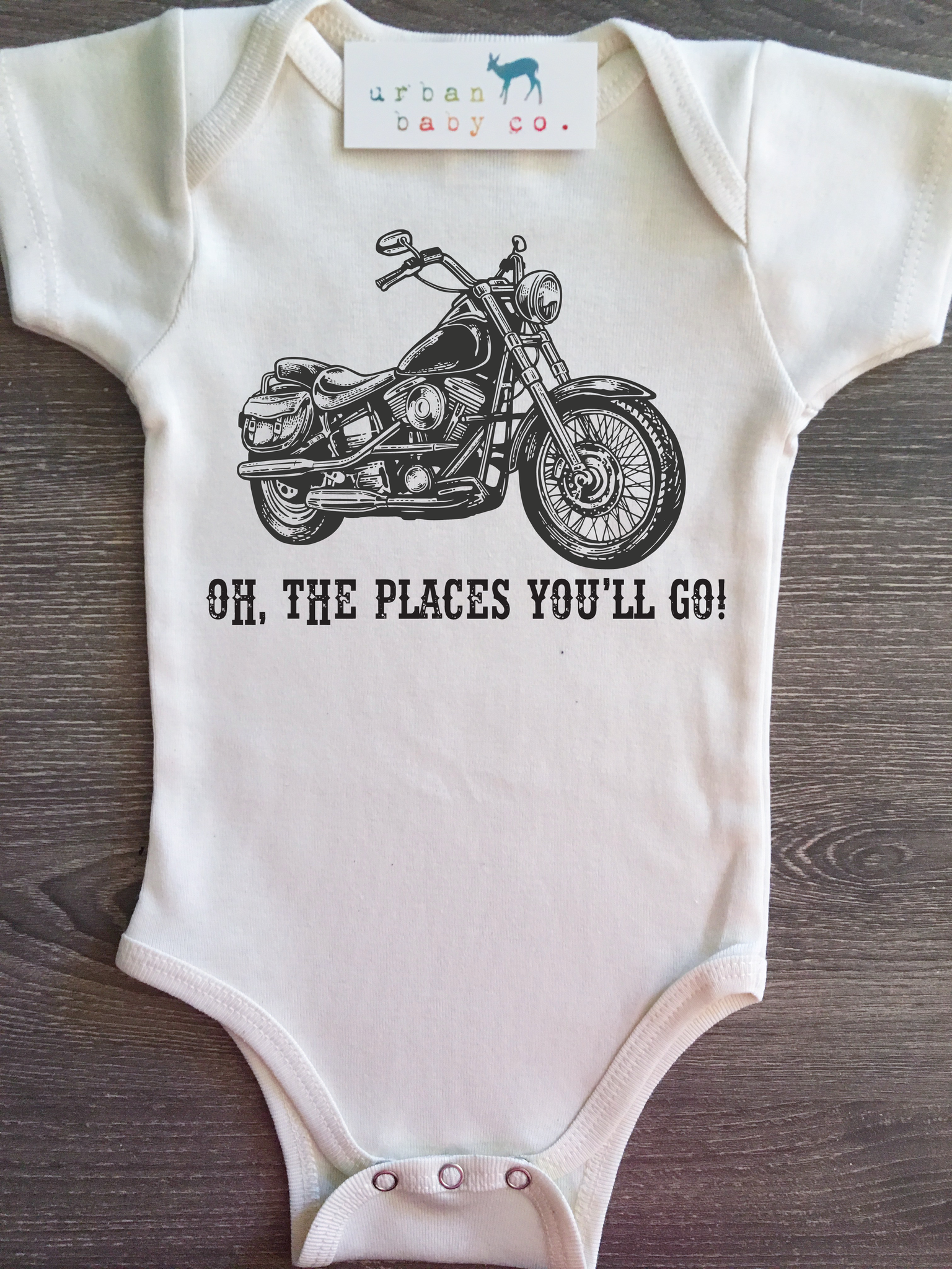 Oh The Places You Ll Go Motorcycle Baby Boy Girl Unisex Gender Neutral Infant
