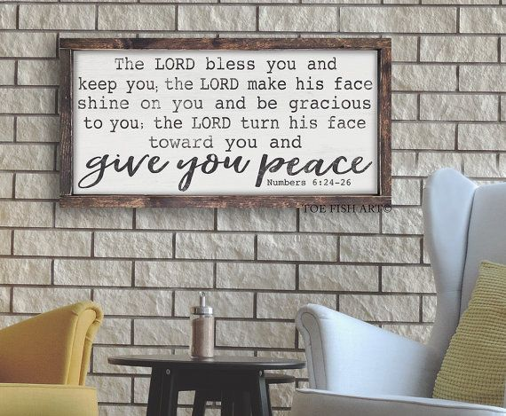 The Lord Bless You And Keep You Numbers 6 24 26 Scripture Etsy Numbers 6 24 Artwork For Home Farmhouse Signs Diy