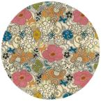 Tim White 5 ft. 9 in. Round Area Rug
