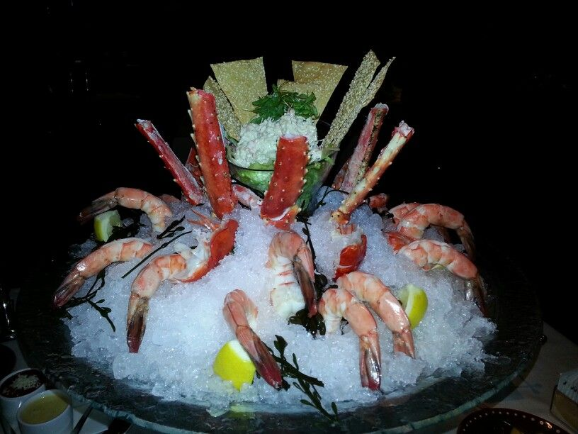 Seafood tower at SW steakhouse | Seafood tower, Food, Seafood