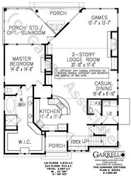 curahee cottage 06252 house plans by garrell