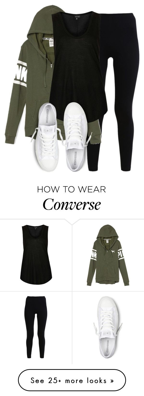 By littlemixmakeup on Polyvore featuring American Apparel, Victoria's Secret, Topshop and Converse