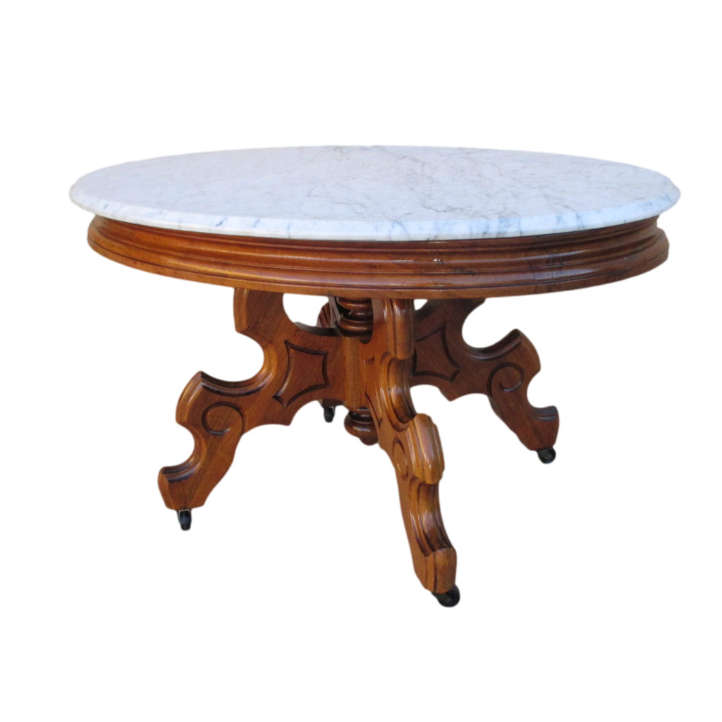 Antique Victorian Marble Top Coffee Table Antique