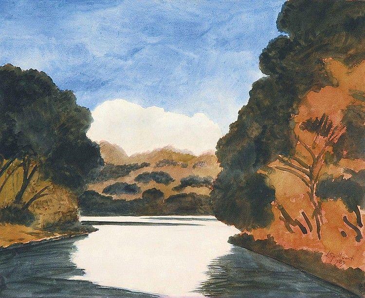 Leon Spilliaert (1881 - 1946) - The pond in the blue sky (L'Etang Au Ciel Bleu), 1929